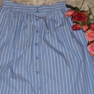 🌷Who What Wear Striped Skirt